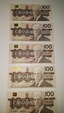 BANK OF CANADA 1988- 5- 4 DIGIT$100 BANK NOTES YOU ARE BUYING 1NOTE FOR$140