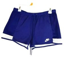 Nike Vintage Red White Womens Blue Small S Gym Shorts with mesh bottom