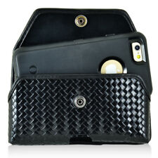 Genuine Leather Basket Weave Rugged Case fits Motorola Turbo 2,Turbo 1 with a co