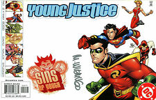 YOUNG JUSTICE #2 SINS OF YOUTH SIGNED BY ARTIST MIKE WIERINGO ( SUPERBOY , ETC )