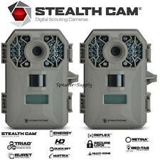 2 Pack Stealth Cam G30 Game Trail Camera Triad 8MP Digital Audio Deer HD STC-G30