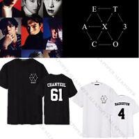 Kpop EXO EX'ACT Unisex T-shirt EXACT Baekhyun Chanyeol Tshirt Monster Sehun TEE