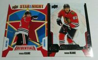 2019-20 Upper Deck Credentials Patrick Kane Stars of the Night + Base Lot