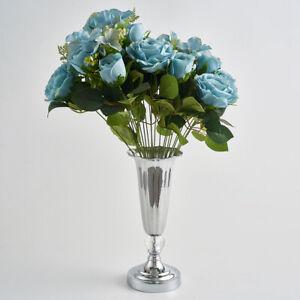 Stunning Silver Iron Luxury Flower Vase for  Wedding Table Restaurant Decor