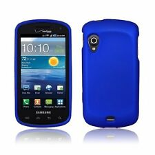 BLUE RUBBERIZED HARD CASE COVER FOR VERIZON SAMSUNG STRATOSPHERE i405 PHONE NEW