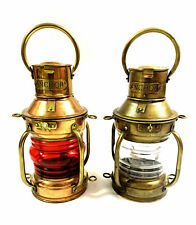 Antique Anchor Oil Lamp ~ Nautical Maritime Ship Lantern ~ Boat Light Home Decor