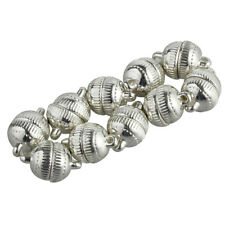 10pcs Silver Plated Strong Magnetic Clasps Round 10mm for Bracelets Jewelry Z3V8