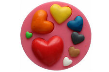 Molde de Silicona Corazón Boda Amor Fondant Decoración Pastel Ornamento Nuevo