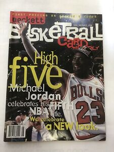 Michael Jordan Beckett Basketball Monthly Magazine December 1997 High Five