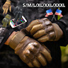 Touch Screen Leather Tactical Hunting Full Finger Gloves Combat Mens Motorcycle