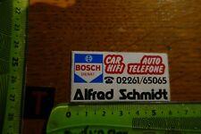 Alter Aufkleber Automobil Werkstatt BOSCH DIENST Alfred Schmidt Gummersbach(?)