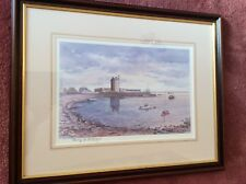 More details for signed print. broughty ferry by harry mcgregor. morning light beach crescent.