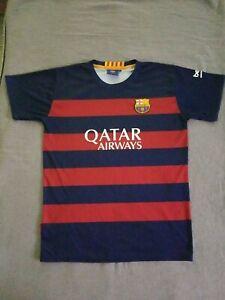 Lionel Messi - FC Barcelona / Youth Jersey (14) Short Sleeve - Qatar Airways