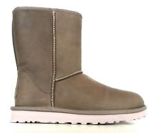 UGG stivali donna modello W classic short leather 1006594 fea tortora