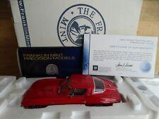 Franklin Mint 1965 Chevy Corvette Sting Ray Coupe 1:24 Scale Fiberglass Rare Car