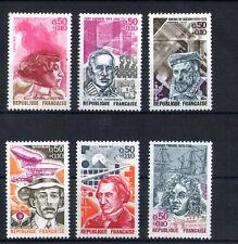 France 6 timbres non oblitérés gomme**  31  Célébrités