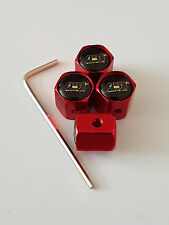 ABT SPORTSLINE RED ANTI THEFT DUST VALVE CAPS ALL MODELS RETAIL PACKED AUDI VW