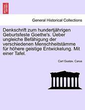 Denkschrift zum hundertjahrigen Geburtsfeste Go, Carus, Gustav.,,