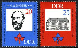 Germany DDR/GDR 813-814,Mint.J.A.Smoler,philologist of the Sorbian language,1966