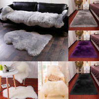 12 Sizes Fluffy Rugs Shaggy Area Rug Living Room Bedroom Floor Carpet Warm Mat