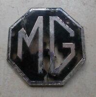 Vintage MG emblem badge sign car truck old automobile vtg UK
