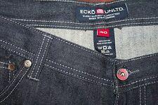 Ecko Unltd Mens Blue  Jeans 40 x 33 Urban Straight Leg Cotton Zip Fly Hip Hop