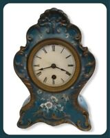 Boston Clock Co-Boston MA Hand Painted Porcelain Mantle Clock - Pat 12/28/1880