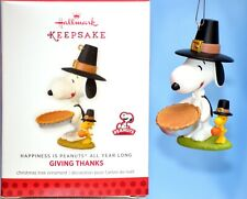 Hallmark Keepsake Snoopy Giving Thanks Thanksgiving Peanuts Gang Series #4 2013