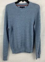 Tommy Hilfiger Men's Textured Knit Crewneck Sweater Blue 78B6525