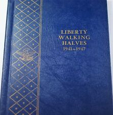 1941- 1947 Silver Walking Liberty Half Dollar Collection Nice Set Whitman 9424