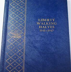 1941- 1947 Silver Walking Liberty Half Dollar Collection Nice Set Whitman 9424