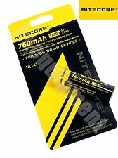 Nitecore 14500 750 NL147 3.7v Protected Li-ion Rechargeable Battery x4