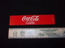 Coca Cola Classic Coke Cooler Button Tag Machine Label Vintage Long Cooler New