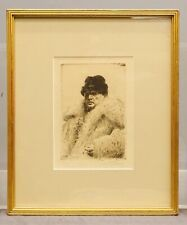 Anders Zorn (1860-1920),Pencil Signed Etching-Self-Portrait W/ Coat & Hat-Framed