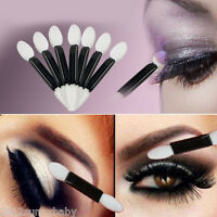 50Pcs Disposable Black Double Ended Sponge Brush Eye Shadow Applicator Tool