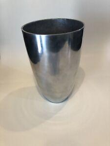 Crate And Barrel Aluminum Conical Vase