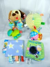 Taggies Puppy Dog Ball Lovey Crib Toy Book Lot of 6 Different Taggie Toys