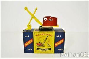 Vintage MATCHBOX No. 4 MAJOR Ruston Bucyrus NMIB