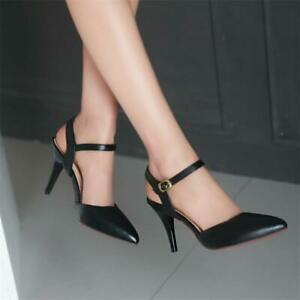 Women Ankle Strap High Heels Stilettos Elegant Party Sexy Slingback Pumps Shoes