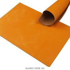 Büffelleder Orange Soft Pull-Up 2,5 mm A3 Rindleder Croupon Leather 35