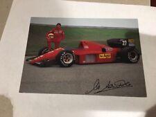 Ferrari 423/86 Enzo Signed Michele Alboreto Card