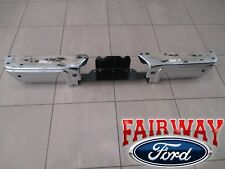 08 thru 16 Ford F250 F350 F450 OEM Ford Rear Chrome Step Bumper w/ Sensor Holes