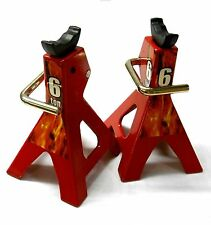 SH80127 80 - 100mm 1/10 Scale RC Rock Crawler Chassis Lift Jacks Stands x 2 Red