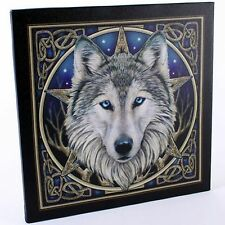 Canvas Wall Plaque ~ Celtic Wolf Head ~ Lisa Parker ~ Stunning ~BNIP~Ideal Gift