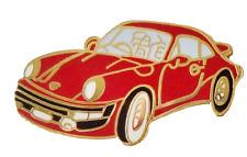 Porsche 911 Carrera Red Pin Badge