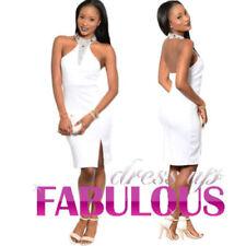 Halter Knee Length Polyester Dresses for Women