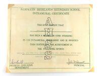 Almaguin Highlands Secondary School Intramural Certificate Ontario K816