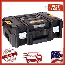 Dewalt 17 in Deep Tool Box Bin Storage Tote Portable Organizer Heavy Duty Latch