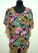 CULT VINTAGE 80 Camisa De Mujer Viscosa Rayón mujer camisa Sz. L - 46