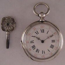 AMAZING 140-Years-Old  KW/KS Swiss Solid Silver Pocket Watch MINT Fully Serviced